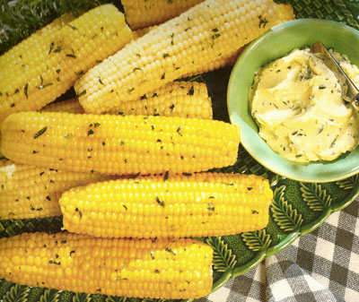 corn with savory-lime butter