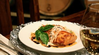 broiled salmon with reisling sauce