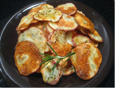 rosemary potato chips